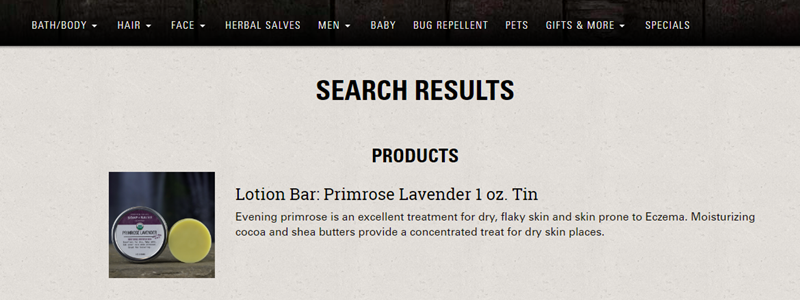 Parametric Search Appliance Helps Chagrin Valley Soap & Salve Prioritize Product Results